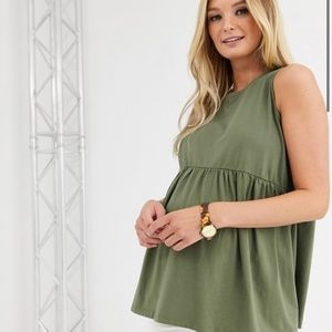 ASOS Maternity Sleeveless Babydoll Top